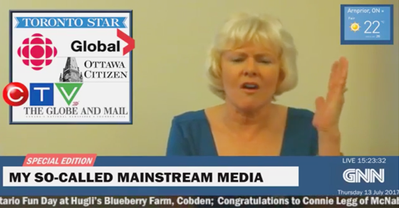 Conservative MP films bizarre CNN-inspired newscast denouncing Canadian journalists as 'fake news'