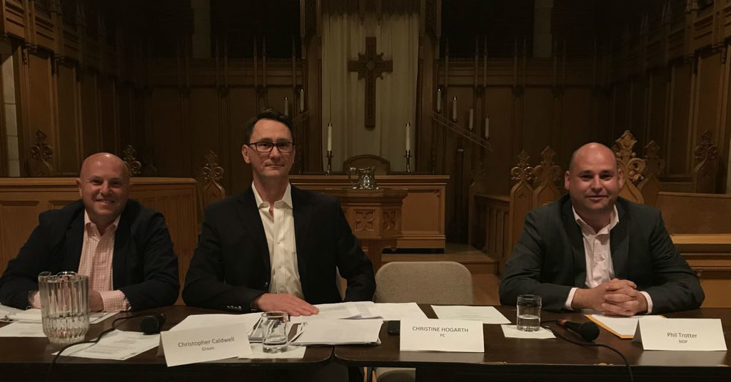 PC candidate absent debate