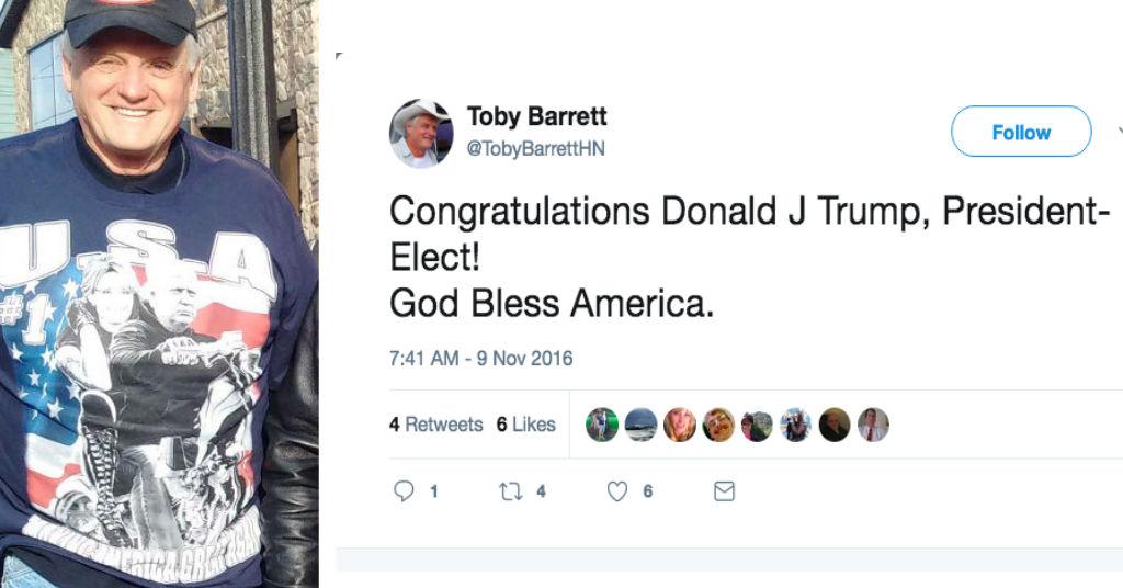 Toby Barrett trump thumb