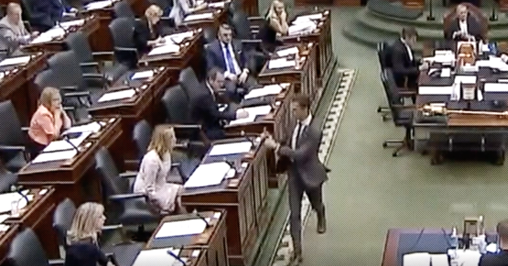 Thumbs Up: Ontario PC's Sam Oosterhoff Reacts After Hearing Health Workers are Facing PPE Shortages